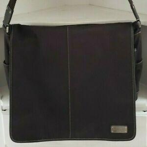 Coach Messenger Bag Black Leather G1182 F05304 Shoulder Strap Briefcase