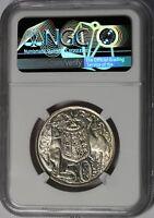 1966 Australia 50 Cents 50c 80% Silver Coin NGC AU 58  Nice Lustre