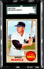MICKEY MANTLE 1968 Topps #280 SGC 60 (5-EX) HOF Yankees BEAUTIFUL CARD FREE SHIP