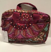 NWT VERA BRADLEY Lighten Up Cosmetic Travel Organizer Resort Medallion Pattern