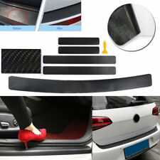 5Pc 4D Anti-Kick Carbon Fiber Car Accessories Door Sill Scuff Protector Stickers