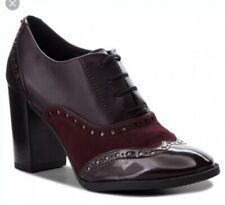 59e9e983723ceb BRS * GEOX femme D heriete Foncé Bordeaux à Lacets Chaussures EU 38.5