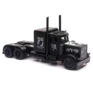 New Ray 1/32 Peterbilt International Semi Truck BLACK OUT POW MIA Model SS 11643