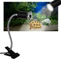 Flexible Reptile Lizard Turtle Basking Heat Light Lamp Holder UV Bulb 110V-130V