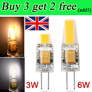 G4 Dimmable LED COB 3W 6W Light Bulb Capsule Lamp Replace for Halogen Bulb
