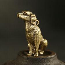 Brass Twelve Zodiac Dog Poodle Car Keychain Pendant