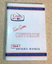 1968 Cessna T 210H Centurion Turbo owners manual information pilots handbook