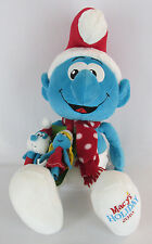 "Santa Smurf Plush Macy's 21"" 2010 Bonus - 2 Finger Puppets Tags Christmas"