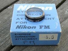 Nikon Eyepiece Correction Attachment (-5.0) - For Nikon FM / FE / FM2 / FM2 / FA