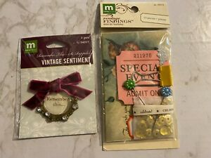 Making Memories, Lot of TWO, Vintage Findings and Metal Tag