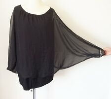 SHEEGO @ Kaleidoscope Plus Sz 28 30 Black Top Split Back Mesh FullCircle OverLay