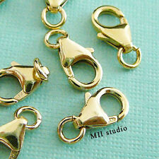 2pcs 12mm 14k gold filled lobster claw trigger clasp with open jump ring F33g