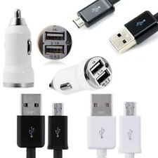 2A Dual USB Car Charger + Micro USB Data Cable for Sony Xperia X Z5 Z3 Z2 Z1 Z