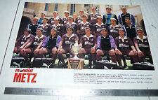 CLIPPING POSTER FOOTBALL 1988-1989 FC METZ LORRAINE SAINT-SYMPHORIEN GRENATS