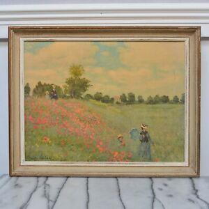 Framed Monet 'The Poppy Field near Argenteuil' Artists Landscape Print