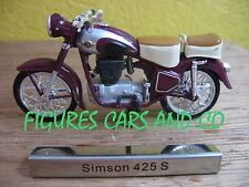 # 01 MOTO  1/24 COLLECTION EUROPE DE L'EST  SIMSON 425 S  DDR ALLEMAGNE