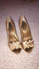Women's Gold Formal Heels Size 6.
