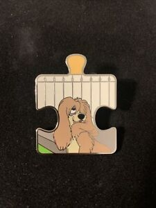 Lady and the Tramp Character Connection Puzzle Mystery Si LE 900 Disney Pin