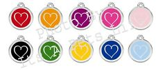 Tribal Heart Enamel/Solid Stainless Steel Engraved ID Dog/Cat Tag