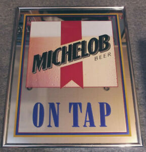 Great Condition MICHELOB BEER On Tap Mirror Sign by Anheuser Busch