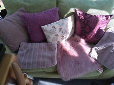 Bundle of cushions Blush Pink Plum Faux Fur And Bunny Rabbit Print x7