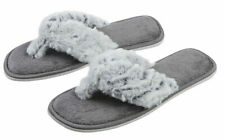 Girls Slippers Slip Ons Open Toe Flip Flop Sandals Furry Novelty Fur Slipper New