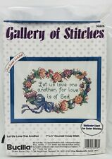 BUCILLA Gallery of Stitches Cross Stitch Kit with Frame LET US LOVE ONE ANOTHER
