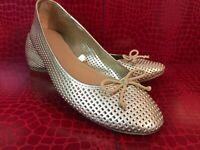 Merona Gold Ballerina Flats Loafers Size 7 Shoes Slides Ballet Flats