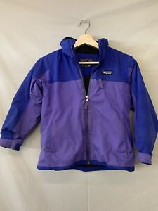 Kid's Girl's Size 7/8 Small Patagonia Polyester Zip Up Jacket Purple Ski Snow