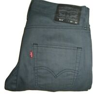 Mens LEVIS 511 COMMUTER Grey Blue Slim Fit Stretch Denim Jeans W30 L30