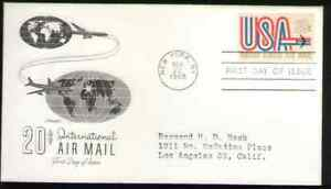 """US. C75. 20c. """"USA"""" and Jet. Artmaster FDC. 1968 -1"""