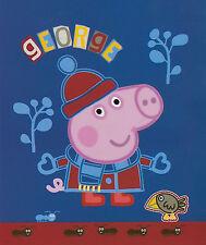 George Blue Printed Soft & Cosy Polar Fleece Throw Rug Blanket | Peppa Pig