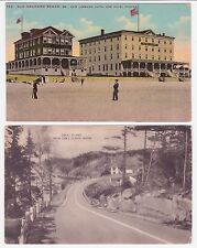 Antique Maine  Post Card Lot of 2 Old Orchard Beach & Great Island