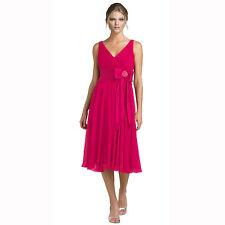 Rhinestone Chiffon Cocktail Party Dress Hot Pink Size AU 6
