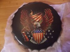 american eagle  40 cm tin metal bottle cap sign MAN CAVE .