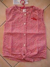 (296) NOLITA pocket camicia Girls senza braccio MADREPERLA Bottoni & LOGO RICAMATO gr.116