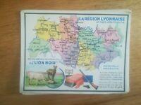 PUB ANCIENNE - PUB ADVERT CIRAGE LION NOIR - LA RÉGION LYONNAISE ANNEES 40