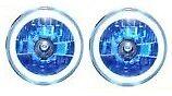 Una COPPIA DI FENDINEBBIA/LAMPADE CON LED Angel Eye [jf795bs] Lente Blu 12v