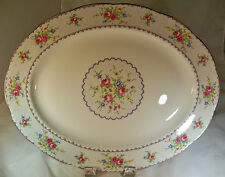 """ROYAL ALBERT PETIT POINT BONE CHINA 15"""" OVAL MEAT or SERVING PLATTER ENGLAND!"""