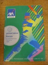 21/06/1998 Cricket Programme: Northamptonshire v Middlesex [AXA League] (team ch