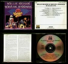 WILLIE NELSON / WAYLON JENNINGS - FRANCE CD - 20 TRACKS