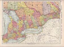 Mapa de 1923 ~ ~ Canadá sur de Ontario Quebec
