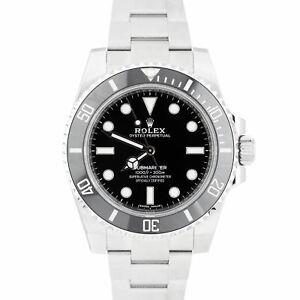 MINT Rolex Submariner No-Date Stainless Steel 40mm Ceramic Dive Watch 114060
