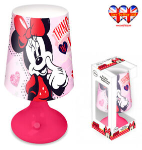 Disney Minnie Mouse Table,Desk Lamp,Bedroom Night Light,Official Licenced