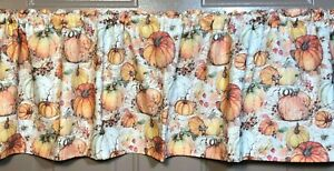 Fall Pumpkins & Leaves Valances or Curtains
