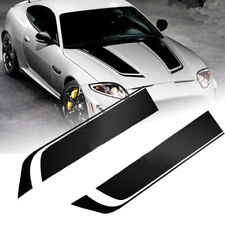 85cm Universal Car Racing Dual Stripe Hood Decal PVC Vinyl Graphics Sticker New