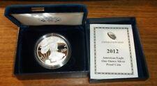 2012 W American Silver Eagle Proof Coin w/ Box & COA #CW1b