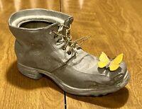 Vintage Petite Choses Metal Boot Shoe & Butterfly Planter