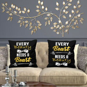 EVERY BEAUTY AND EVERY BEAST CUSHION COVER COUPLES PARTNERS VALENTINES DAY