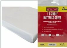 SINGLE BED FITTED MATTRESS PROTECTOR SHEET STAY SOFT WIPE CLEAN VINYL